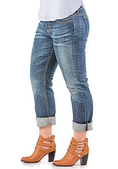 Standards and Practices Plus Size X-Boyfriend Roll Cuff Jeans
