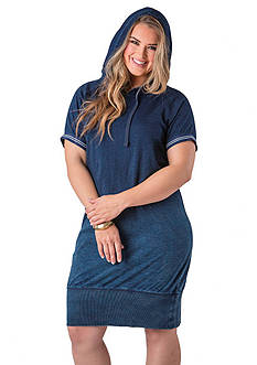 Standards and Practices Plus Size Hooded Jersey Dress