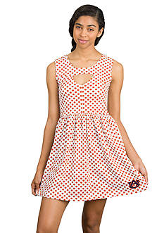 Flying Colors Auburn Tigers Polka Dots Cut Out Dress