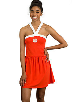 Flying Colors Clemson Tigers Touchdown Twist Dress