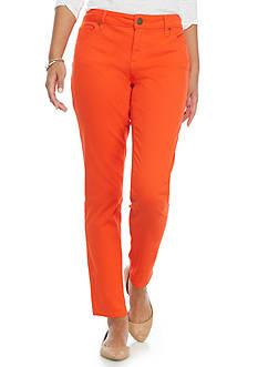 crown & ivy™ Petite Size Colored Denim Jeans