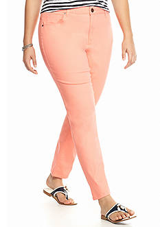 crown & ivy™ Plus Size 5 Pocket Colored Denim Pants