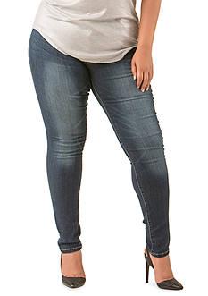 Poetic Justice Scarlett Mid Rise Dark Skinny Jeans