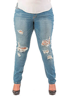 Poetic Justice Plus Size Scarlett Mid Rise Skinny Jeans