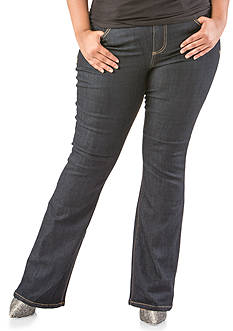 Poetic Justice Plus Size Scarlet Mid Rise Boot Cut Jeans