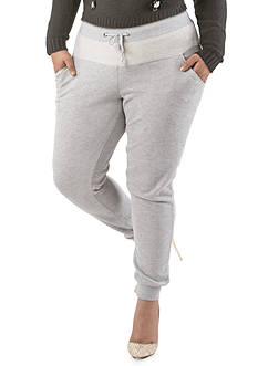 Poetic Justice Plus Size Savannah Solid Heather Gray Jogger Pants