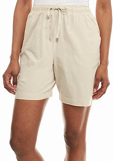 Kim Rogers Solid Pull-On Drawstring Woven Shorts