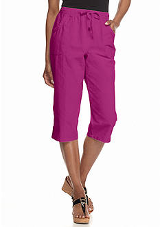Kim Rogers Solid Sheeting Capris