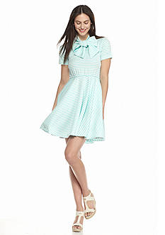 NATT TAYLOR Lola Striped Short Sleeve Dress