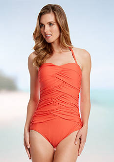 Karen Kane Poppy D Solid Maya One Piece Swimsuit