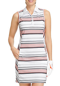 IZOD Golf Sleeveless Stripe Dress