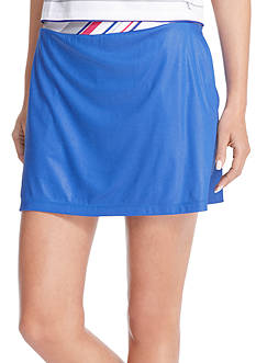IZOD Golf Women's Striped Trim Solid Knit Skort