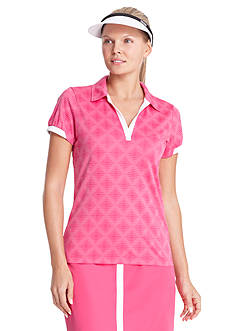 IZOD Golf Women's Diamond Jacquard Polo Shirt