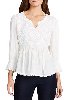 WILLIAM RAST™ Clover Embroidered Blouse