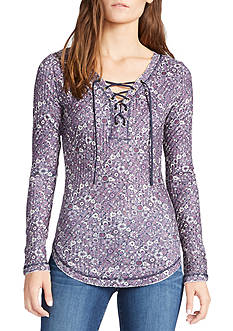 WILLIAM RAST™ Gordon Print Lace Up Top
