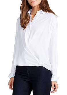 WILLIAM RAST™ Aster Solid Crossfront Blouse