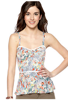 circles and cycles Floral Peplum Bralette