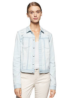 Calvin Klein Jeans Destructed Denim Trucker Jacket