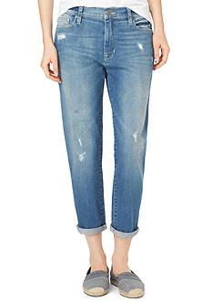 Calvin Klein Jeans Destructed Boyfriend Crop