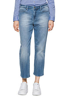 Calvin Klein Jeans Cropped Straight Leg Jeans