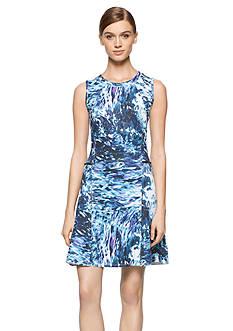 Calvin Klein Jeans Printed Scuba Dress