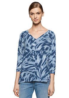 Calvin Klein Jeans Printed V-Neck Slub Tee