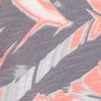 Women's T-shirts: Fusion Coral Calvin Klein Jeans Printed V-Neck Slub Tee
