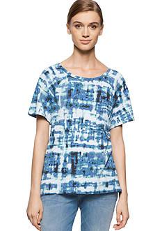 Calvin Klein Jeans Abstract Plaid Tee