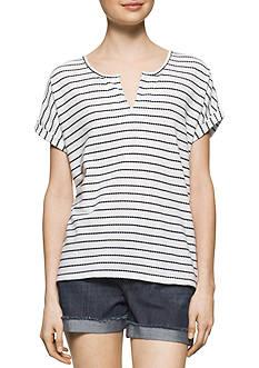 Calvin Klein Jeans Stripe Henley Top