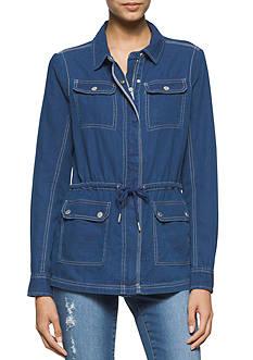 Calvin Klein Jeans Indigo Utility Jacket