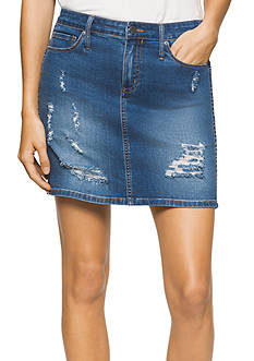 Calvin Klein Jeans Mini Rip and Repair Skirt