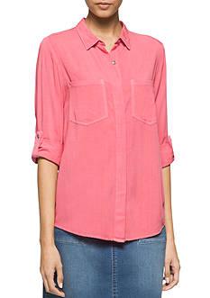Calvin Klein Jeans Utility Woven Top