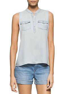 Calvin Klein Jeans Sleeveless Tencel® Shirt