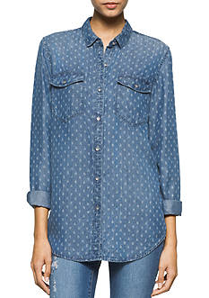 Calvin Klein Jeans Printed Jean Boyfriend Top
