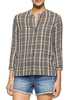 Calvin Klein Jeans Long Sleeve Plaid Button Down