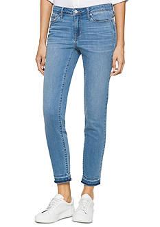 Calvin Klein Jeans Ankle Length Skinny Leg Raw Hem Jeans