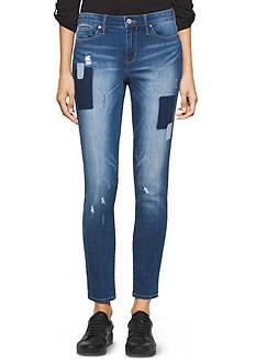 Calvin Klein Jeans Patchwork Denim Leggings