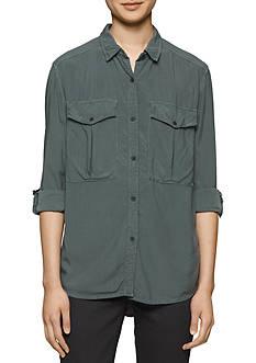 Calvin Klein Jeans Utility Pocket Button Down Top