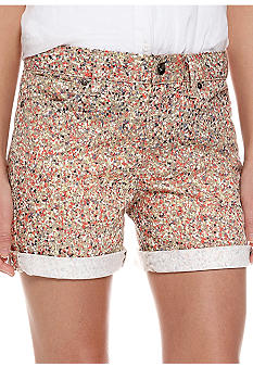 Calvin Klein Jeans Splatter Print Weekend Short with Rolled Cuff