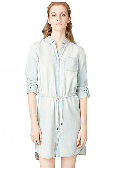 Calvin Klein Jeans Cinch Waist Chambray Shirtdress