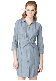 Calvin Klein Jeans Micro Stripe Shirt Dress