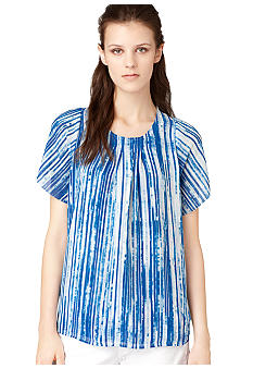 Calvin Klein Jeans Printed Pin Tuck Top