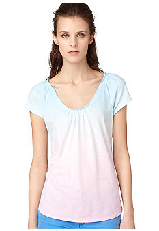 Calvin Klein Jeans Gathered Neck Top
