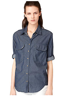 Calvin Klein Jeans Denim Button Down Top