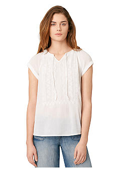 Calvin Klein Jeans Embroidered Crinkle Gauze Top