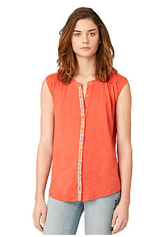 Calvin Klein Jeans Shoulder Tuck Button Down Top