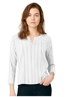 Calvin Klein Jeans Three-Quarter Sleeve Stripe Top