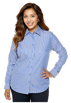 Jones New York Collection Plus Size Easy Care Stripe Shirt