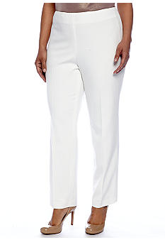 Jones New York Signature Plus Size Dressy Side Zip Pant