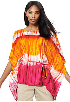 Jones New York Signature Tye Dyed Poncho